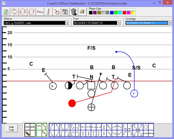 Draw plays and formations in Coach's Office football software