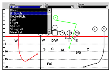 Mix offense and defense football plays in any combination
