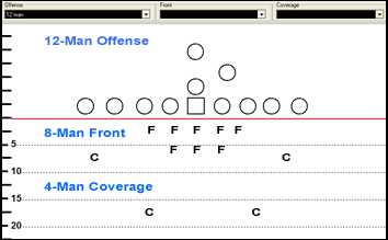 Drawing program to diagram plays for 12-man Canadian