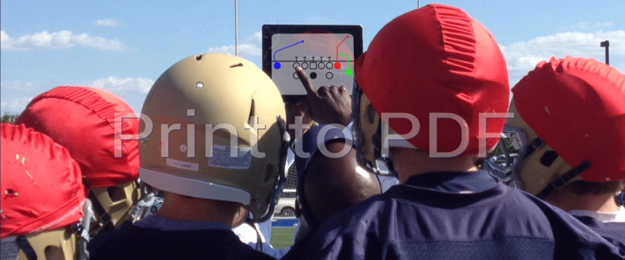 Display digital football plays and formations on iPad