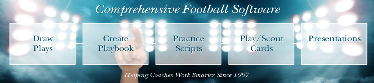 Create football playbook and play cards with Coach's Office